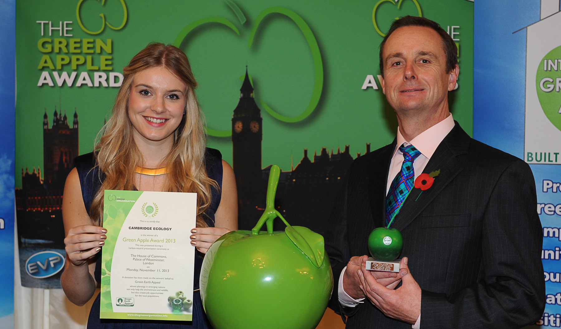 Cambridge Ecology Limited Wins at The Green Apple Environment Awards 2013